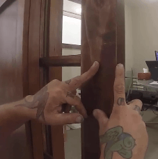 how to install pocket door hardware-measure-latch-depth-in-post-img