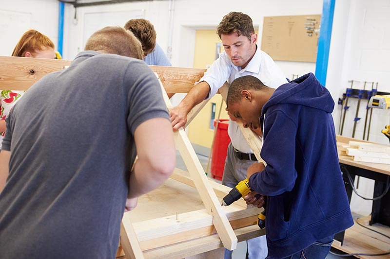 Skilled workers trade school