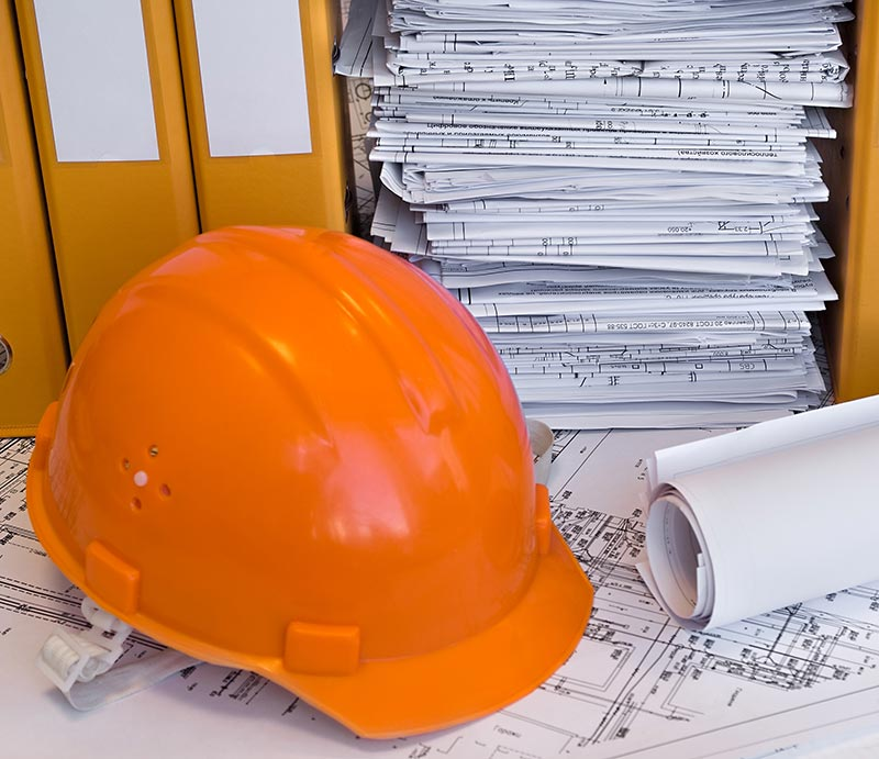 Construction project paperwork