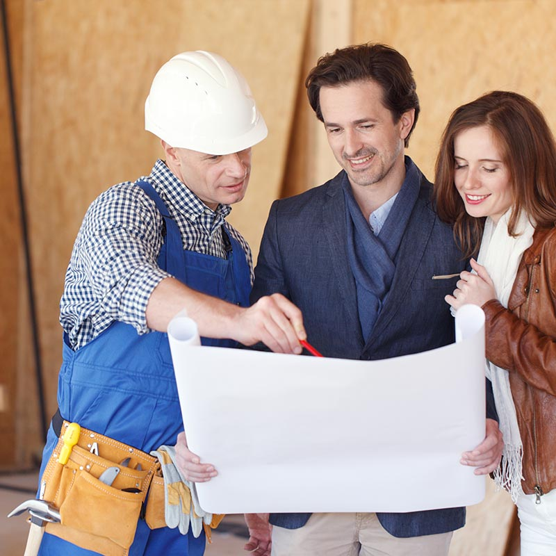 contractor with clients
